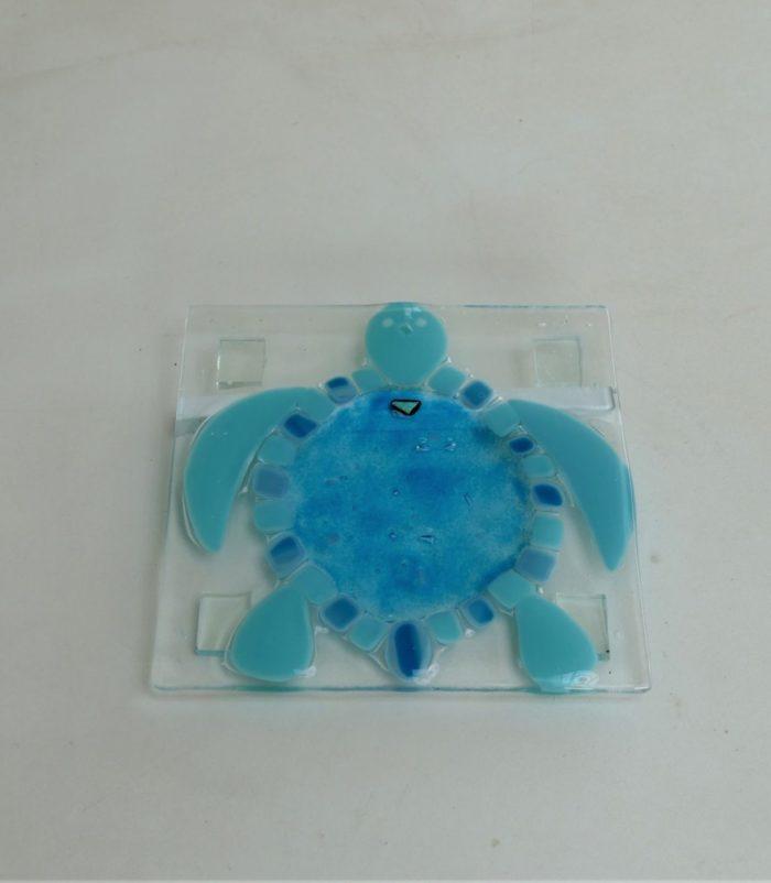 Dessous de plat en verre motif tortue